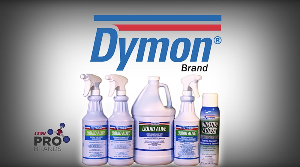 DYMON LIQUID ALIVE eliminating soils from surface