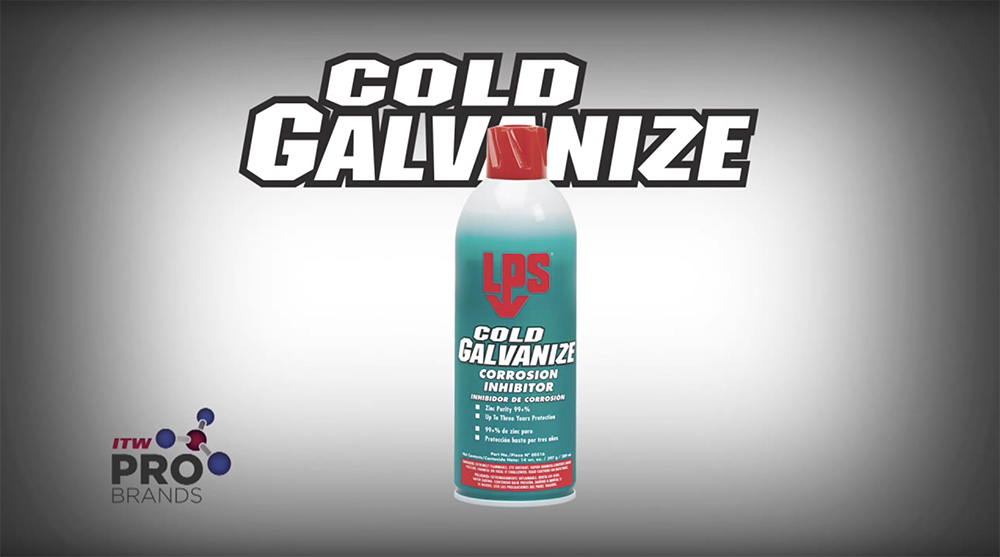 LPS COLD GALVANIZE Preventing corrosion and rust on all metal
