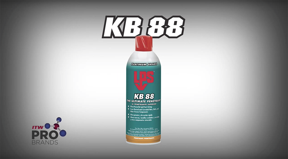 LPS KB 88: The best penetrant to loosen rusted and seized bolts